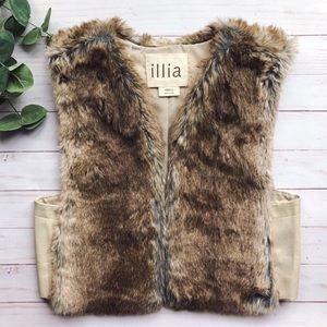 Anthropologie Illia Artio Faux-Fur Vest